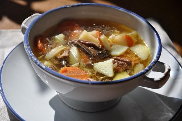 суп с грибами сушеными фото